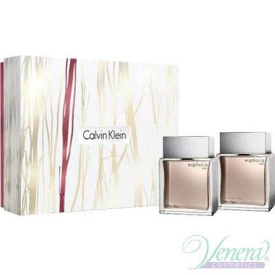 Calvin Klein Euphoria Комплект (EDT 100ml + AS Lotion 100ml) за Мъже
