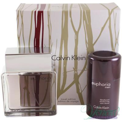 Calvin Klein Euphoria Комплект (EDT 100ml + Deo Stick 75ml) за Мъже Мъжки Комплекти