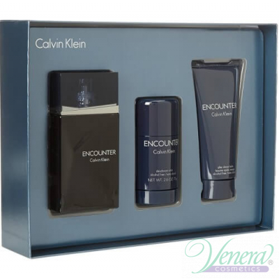 Calvin Klein Encounter Set (EDT 100ml + AS Balm 100ml + Deo Stick 75ml) за Мъже За Мъже
