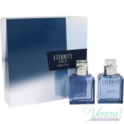 Calvin Klein Eternity Aqua Комплект (EDT 100ml + After Shave Lotion 100ml) за Мъже
