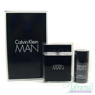 Calvin Klein Man Комплект (EDT 100ml + Deo Stick 75ml) за Мъже За Мъже