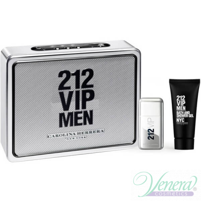 Carolina Herrera 212 VIP Men Комплект (EDT 50ml + Shower Gel 75ml) за Мъже