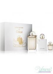 Chloe Love Story Set (EDP 75ml + EDP 7.5ml + Body Lotion 100ml) για γυναίκες Women's Gift sets