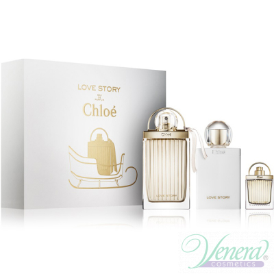 Chloe Love Story Комплект (EDP 75ml + EDP 7.5ml + Body Lotion 100ml) за Жени