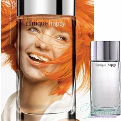 Clinique Happy Комплект (EDP 50ml + EDP 10ml + Body Cream 75ml) за Жени Дамски Комплекти