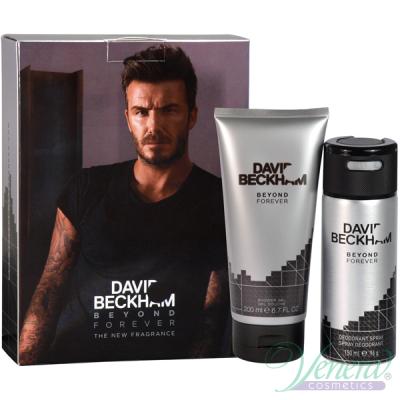 David Beckham Beyond Forever Комплект (Deo Spray 150ml + SG 200ml) за Мъже Мъжки Парфюми