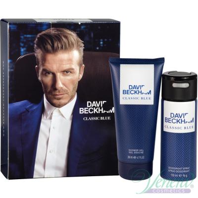 David Beckham Classic Blue Комплект (Deo Spray 150ml + SG 200ml) за Мъже Мъжки Комплекти