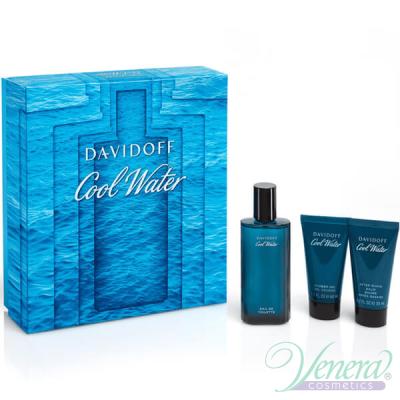 Davidoff Cool Water Set (EDT 75ml + AS Balm 50ml + SG 50ml) за Мъже