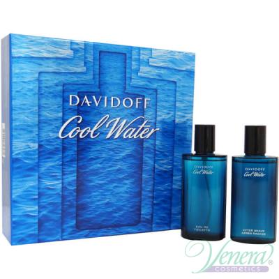Davidoff Cool Water Комплект (EDT 75ml + AS Lotion 75ml) за Мъже Мъжки Комплекти