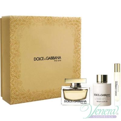 Dolce&Gabbana The One Комплект (EDP 50ml + BL 100ml + EDP 7.4ml) за Жени Дамски Комплекти
