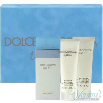 D&G Light Blue Комплект (EDT 50ml + Body Cream 50ml + SG 50ml) за Жени За Жени