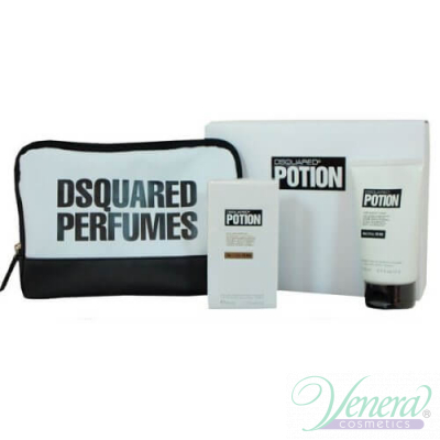 Dsquared2 Potion Set (EDP 50ml + Shower Gel 100ml + Bag) pentru Bărbați