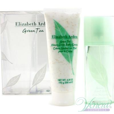Elizabeth Arden Green Tea Set (EDP 100ml+ BL 200ml) за Жени Дамски Комплекти
