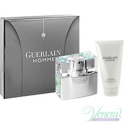 Guerlain Homme Комплект (EDT 80ml + SG 75ml) Travel за Мъже