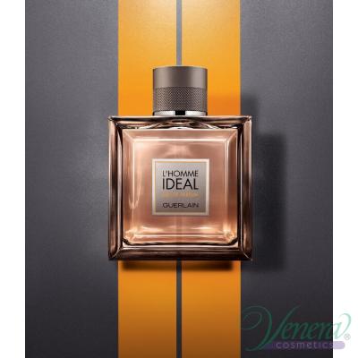 Guerlain L'Homme Ideal Eau de Parfum Комплект (EDP 100ml + SG 75ml + Bag) за Мъже Мъжки Комплекти