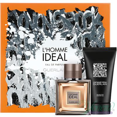 Guerlain L'Homme Ideal Eau de Parfum Комплект (EDP 50ml + SG 75ml) за Мъже Мъжки Комплекти