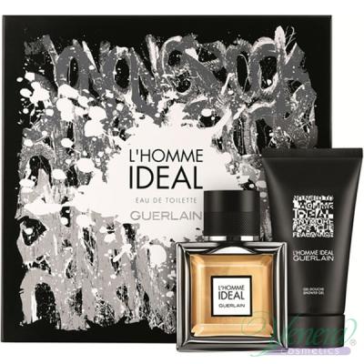 Guerlain L'Homme Ideal Комплект (EDT 50ml + Shower Gel 75ml) за Мъже Мъжки Комплекти