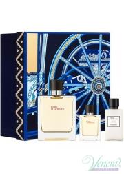 Hermes Terre D'Hermes Set (EDP 75ml + EDP 12.5ml + After Save Balm 40ml) for Men Men's Gift sets