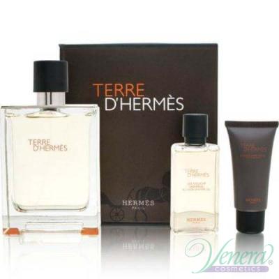 Hermes Terre D'Hermes Комплект (EDT 100ml + SGel 40ml + After Save Balm 15ml) за Мъже За Мъже