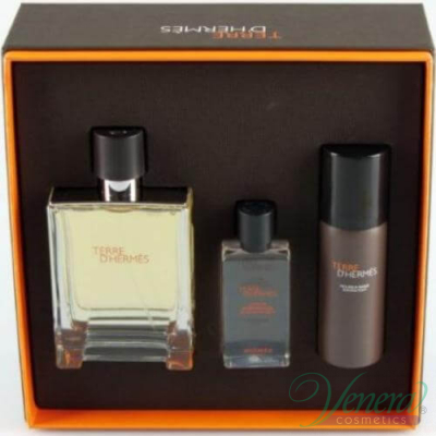 Hermes Terre D'Hermes Комплект (EDT 100ml + AS Lotion 40ml + SF 50ml) за Мъже