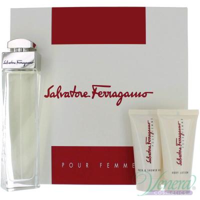 Salvatore Ferragamo Pour Femme Комплект (EDP 100ml + BL 50ml + SG 50ml) за Жени Дамски Комплекти