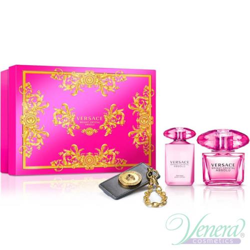 5294f1ad602c Versace Bright Crystal Absolu Комплект (EDP 90ml + BL 100ml +  Ключодържател) за Жени