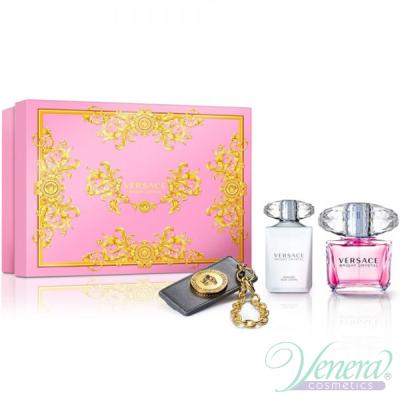 Versace Bright Crystal Комплект (EDT 90ml + BL 100ml + Ключодържател) за Жени Дамски Комплекти