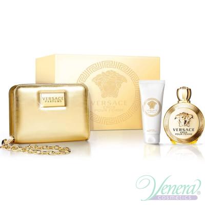 Versace Eros Pour Femme Комплект (EDP 100ml + BL 100ml + Bag) за Жени Дамски Комплекти