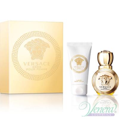 Versace Eros Pour Femme Комплект (EDP 30ml + Body Lotion 50ml) за Жени Дамски Комплекти