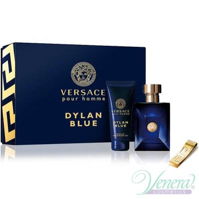 Versace Pour Homme Dylan Blue Комплект (EDT 100ml + SG 100ml + Щипка за пари) за Мъже Мъжки Комплекти