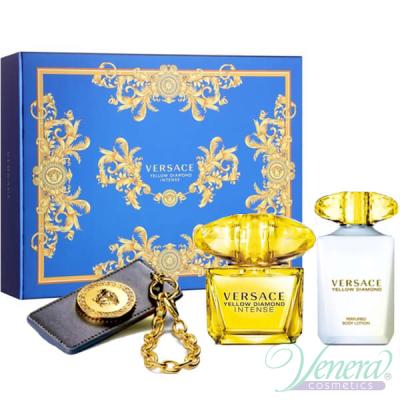 Versace Yellow Diamond Intense Комплект (EDT 90ml + BL 100ml + Ключодържател) за Жени