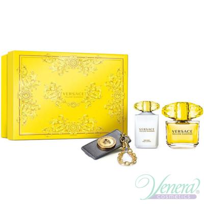 Versace Yellow Diamond Комплект (EDT 90ml + BL 100ml + Ключодържател) за Жени Дамски Комплекти