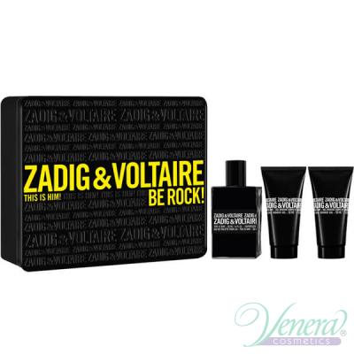 Zadig & Voltaire This is Him Комплект (EDT 50ml + SG 50ml + SG 50ml) Be Rock! за Мъже Мъжки Комплекти
